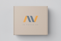 In Focus AV Logo on packaging