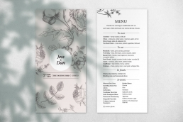 The Cloustons Wedding Menu Design