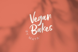 Vegan Bakes by Maya Logo Design