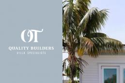 OT Quality Builders Villa Specialists Logo Design
